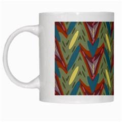 Shapes Pattern White Mug by LalyLauraFLM