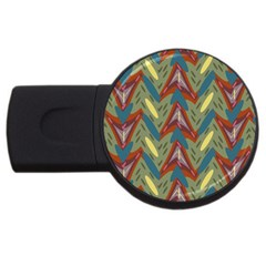Shapes Pattern Usb Flash Drive Round (2 Gb) by LalyLauraFLM