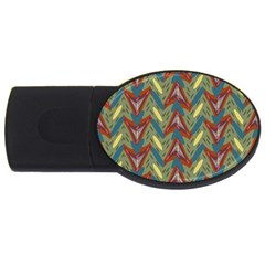 Shapes Pattern Usb Flash Drive Oval (2 Gb) by LalyLauraFLM