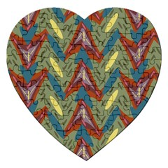 Shapes Pattern Jigsaw Puzzle (heart) by LalyLauraFLM