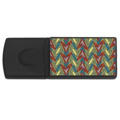 Shapes Pattern Usb Flash Drive Rectangular (4 Gb) by LalyLauraFLM