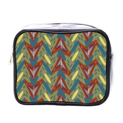 Shapes Pattern Mini Toiletries Bag (one Side) by LalyLauraFLM