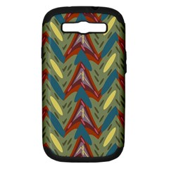 Shapes Pattern Samsung Galaxy S Iii Hardshell Case (pc+silicone) by LalyLauraFLM