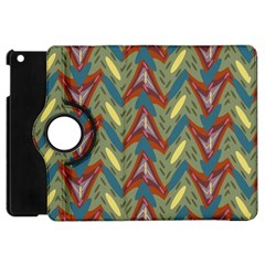Shapes Pattern Apple Ipad Mini Flip 360 Case by LalyLauraFLM