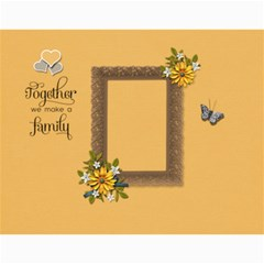 Wall Calendar 11 X 8 5 : Together As Family By Jennyl   Wall Calendar 11  X 8 5  (12 Months)   Aicl4ydu2kyq   Www Artscow Com Month