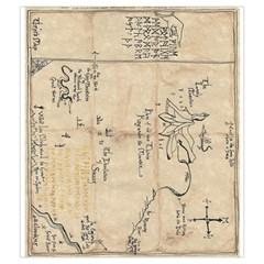Thror s Map Draw Bag  By Mark Chaplin   Drawstring Pouch (medium)   0xgab5hyi4w0   Www Artscow Com Front