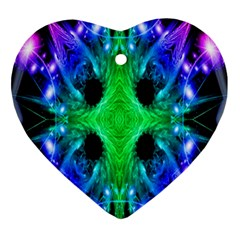 Alien Snowflake Heart Ornament by icarusismartdesigns