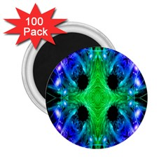 Alien Snowflake 2 25  Button Magnet (100 Pack) by icarusismartdesigns