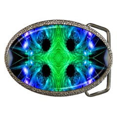 Alien Snowflake Belt Buckle (oval) by icarusismartdesigns