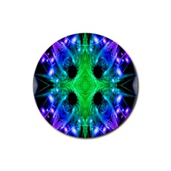 Alien Snowflake Drink Coaster (round) by icarusismartdesigns