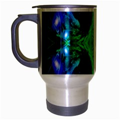 Alien Snowflake Travel Mug (silver Gray) by icarusismartdesigns