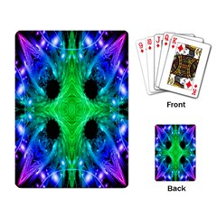 Alien Snowflake Playing Cards Single Design by icarusismartdesigns