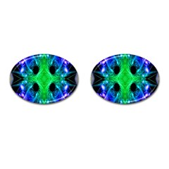Alien Snowflake Cufflinks (oval) by icarusismartdesigns