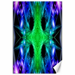 Alien Snowflake Canvas 12  X 18  (unframed) by icarusismartdesigns