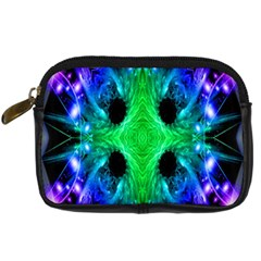 Alien Snowflake Digital Camera Leather Case by icarusismartdesigns