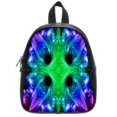 Alien Snowflake School Bag (small) by icarusismartdesigns