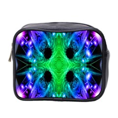 Alien Snowflake Mini Travel Toiletry Bag (Two Sides) by icarusismartdesigns