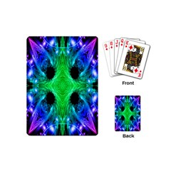 Alien Snowflake Playing Cards (mini) by icarusismartdesigns