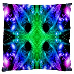 Alien Snowflake Large Cushion Case (two Sided)  by icarusismartdesigns