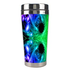 Alien Snowflake Stainless Steel Travel Tumbler by icarusismartdesigns