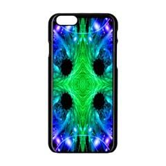 Alien Snowflake Apple Iphone 6 Black Enamel Case by icarusismartdesigns