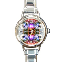 Connection Round Italian Charm Watch by icarusismartdesigns