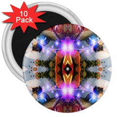 Connection 3  Button Magnet (10 Pack) by icarusismartdesigns
