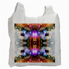 Connection White Reusable Bag (one Side) by icarusismartdesigns