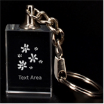 Flower - 3D Engraving Key Chain