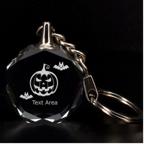 Halloween By C1   3d Engraving Circle Key Chain   Iw97cy85v2yi   Www Artscow Com Front