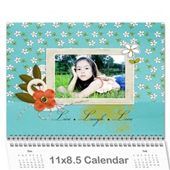 Wall Calendar 11 X 8 5 : Live, Laugh, Love By Jennyl   Wall Calendar 11  X 8 5  (12 Months)   Bd2zg1n58184   Www Artscow Com Cover