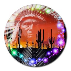 Ghost Dance 8  Mouse Pad (round) by icarusismartdesigns