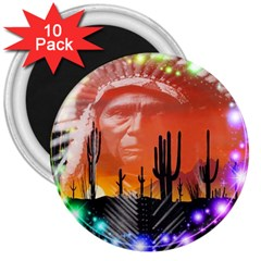 Ghost Dance 3  Button Magnet (10 Pack) by icarusismartdesigns