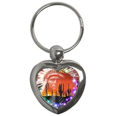 Ghost Dance Key Chain (heart) by icarusismartdesigns