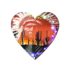 Ghost Dance Magnet (heart) by icarusismartdesigns