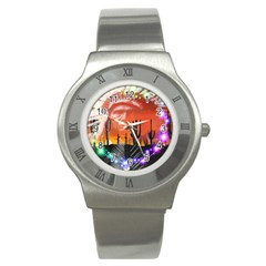 Ghost Dance Stainless Steel Watch (slim) by icarusismartdesigns