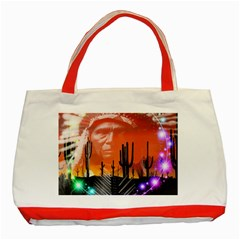 Ghost Dance Classic Tote Bag (red) by icarusismartdesigns