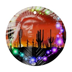 Ghost Dance Round Ornament (two Sides) by icarusismartdesigns