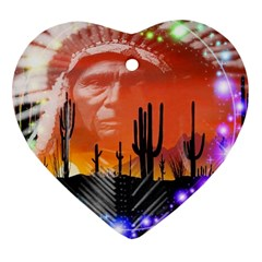 Ghost Dance Heart Ornament (two Sides) by icarusismartdesigns