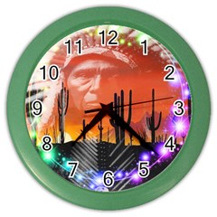 Ghost Dance Wall Clock (color) by icarusismartdesigns