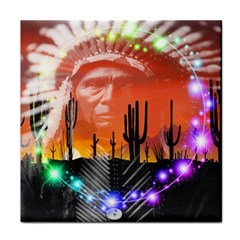 Ghost Dance Face Towel by icarusismartdesigns