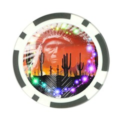 Ghost Dance Poker Chip (10 Pack) by icarusismartdesigns