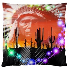 Ghost Dance Large Cushion Case (single Sided)  by icarusismartdesigns