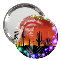 Ghost Dance 3  Handbag Mirror by icarusismartdesigns