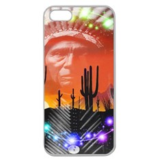 Ghost Dance Apple Seamless Iphone 5 Case (clear) by icarusismartdesigns