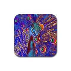 Peacock Drink Coasters 4 Pack (square) by icarusismartdesigns