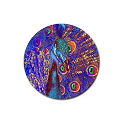 Peacock Drink Coasters 4 Pack (round) by icarusismartdesigns