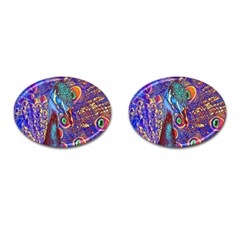 Peacock Cufflinks (oval) by icarusismartdesigns