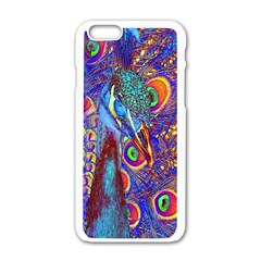 Peacock Apple Iphone 6 White Enamel Case