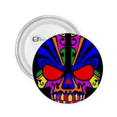 Skull In Colour 2 25  Button by icarusismartdesigns